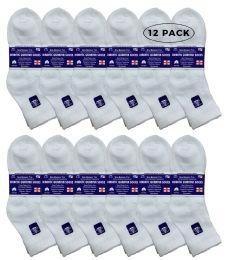 12 of Yacht & Smith Women's Diabetic Cotton Ankle Socks Soft NoN-Binding Comfort Socks Size 9-11 White