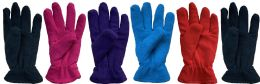 144 of Yacht & Smith Women's Double Layer Heavy Fleece Gloves Bulk Buy