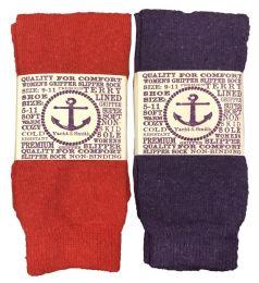 12 of Yacht & Smith Women's Thermal Non-Slip Tube Socks, Gripper Bottom Socks