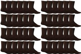 72 of Yacht & Smith Women's Sports Crew Socks, Size 9-11, Brown