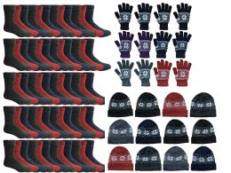 180 of Yacht & Smith Womens 3 Piece Winter Care Set, Fleece Hat, Thermal Sock, Snow Flake Glove