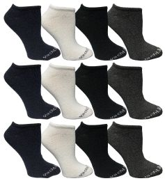 480 of Yacht & Smith Womens 97% Cotton Low Cut No Show Loafer Socks Size 9-11 Solid Assorted Bulk Buy