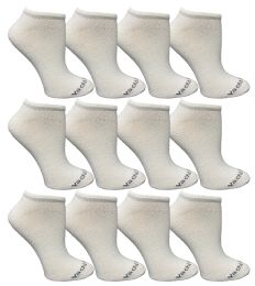 480 of Yacht & Smith Womens 97% Cotton Low Cut No Show Loafer Socks Size 9-11 Solid White Bulk Buy