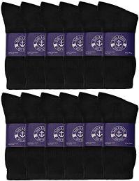 12 of Yacht & Smith Womens Lightweight Cotton Crew Socks In Bulk, Black Size 9-11