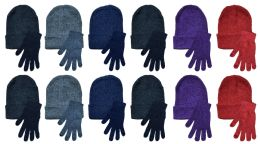 144 of Yacht & Smith Womens Warm Winter Sets 72 Pairs Of Gloves And 72 Hats