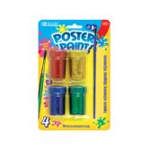 144 of BAZIC 4 Color Glitter Poster Paint w/ Brush