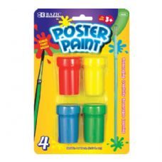 144 of BAZIC 4 Color Poster Paint with Brush