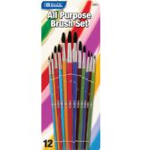 144 of BAZIC Asst. Size Paint Brush Set (12/Pack)