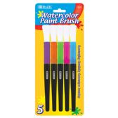 144 of BAZIC Jumbo Watercolor Paint Brush (5/Pack)