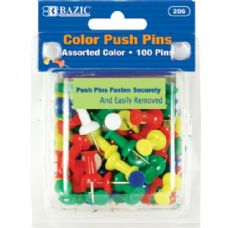 144 of BAZIC Assorted Color Push Pins (100/Pack)