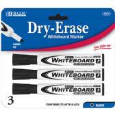 144 of BAZIC Black Chisel Tip Dry-Erase Markers (3/Pack)