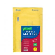"72 of BAZIC 9.5"" X 13.5"" (#4) Self Sealing Bubble Mailers (2/Pack)"