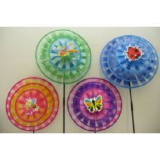 """120 of 14"""" Triple Round Wind Spinner [Fly/Bug/Bee]"""
