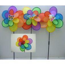 "120 of 15"" Double Wind Spinner-Rainbow Petals [Bee/Bugs]"