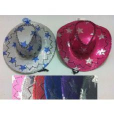 24 of Sequin Cowboy Hat--Stars