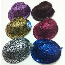 120 of Fedora Hat--Sequins with Animal Print