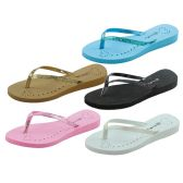 36 of Womans Heart And Glitter Design Flip Flops Assorted Colors