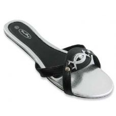 48 of Sterling Buckled Flat Sandals