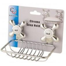 36 of Chrome Soap Holder w/Suction Cups