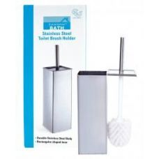 12 of Stainless Steel Square Toilet Brush Holder