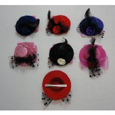 "72 of 4.25"" Fancy Hat Hair Clip-Large"