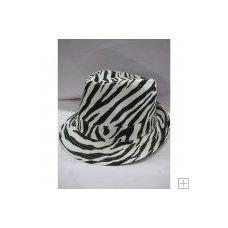 36 of Zebra Print Fedora Hat