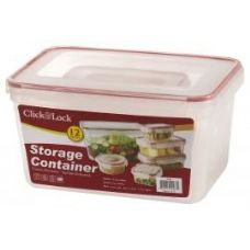6 of 12 Piece Assorted Plastic Container with Click And Lock Lids