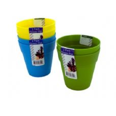 72 of Plastic flower pots, 2 pack, assorted colors
