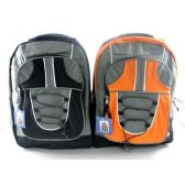 12 of Backpack 17inch Assorted Colors
