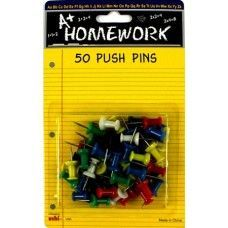 48 of Push Pins - 50ct. Asst.Cls. - Carded