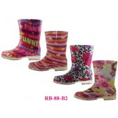 24 of Children's Print Rainboots