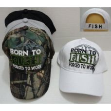 24 of BORN TO FISH-FORCED TO WORK Hat