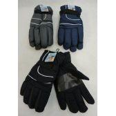 24 of Men's Snow Gloves [Solid Color]