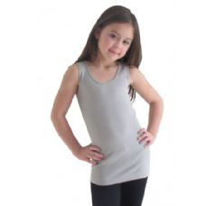 24 of Girls Seamless Flat Tanks Tops Youth Size