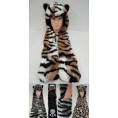 24 of Full Animal Hood Hoodie Hat Faux Fur with Paw Mittens