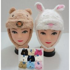 144 of Kids Plush Hat--Bear and Rabbit