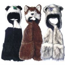 6 of Winter Animal Hat Long w/ Fur