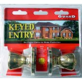 6 of Brass Keyed Entry Doorknob Set
