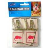 48 of Two Pack Wooden Mouse Trap
