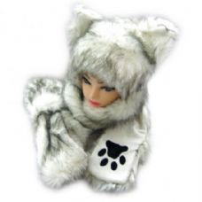 36 of Winter Animal Hat With Hand Warmer And Paws