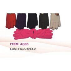 60 of Ladies Fleece Winter Gloves Asst Colors