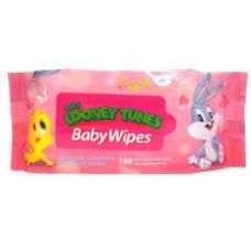 48 of Baby Looney Tunes Baby Wipes 100CT in Pink