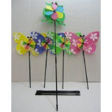 "120 of  5.5"" Wind Spinner-Frog & Butterflies"