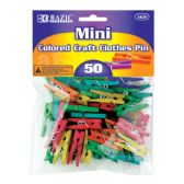 72 of BAZIC Mini Colored Clothes Pin (50/Pack)
