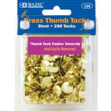 48 of BAZIC Brass (Gold) Thumb Tack (200/Pack)