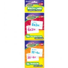 24 of BAZIC 36 Ct. Multiplication & Division Mini Flash Card (2/Pack)
