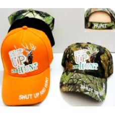 48 of Hunting Baseball Hats Shut UP and Hunt Buck Design