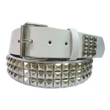 48 of Pyramid Studded Silver Belt