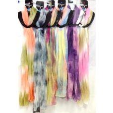 48 of Tie Dye Color Assortment Lady Scarve