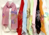 48 of Silk Scarves with Large Flower